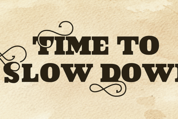 Time to Slow Down - Socials